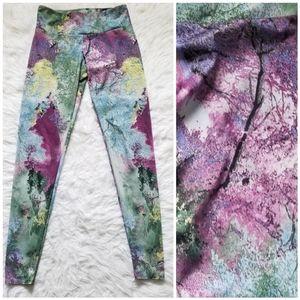Onzie Multicolored Tree Print Sky Galaxy Leggings